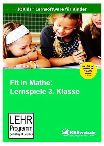 Verpackung von Fit in Mathe: Lernspiele 3. Klasse [PC-Software]