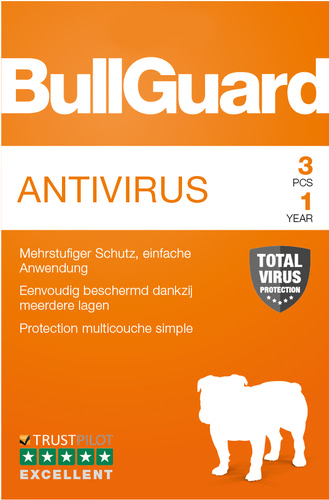 Verpackung von BullGuard Antivirus 3 PC / 12 Monat [PC-Software]