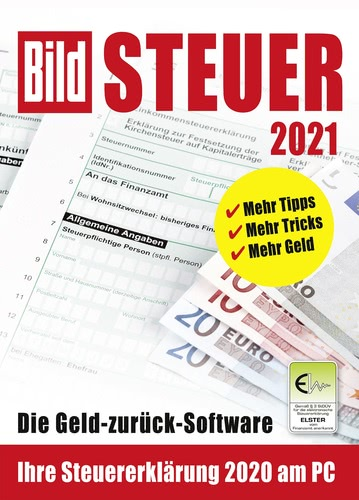 Verpackung von BILD Steuer 2021 (für Steuerjahr 2020) [PC-Software]