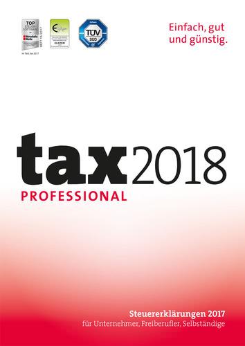 Verpackung von tax 2018 Professional (für Steuerjahr 2017) [PC-Software]