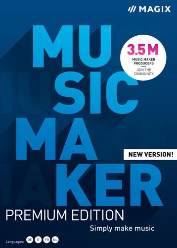 Verpackung von MAGIX Music Maker Premium (2021) [PC-Software]
