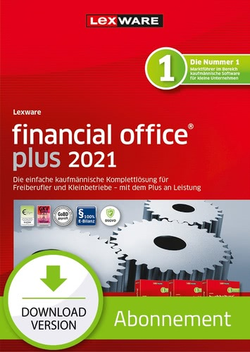 Verpackung von Lexware financial office plus 2021 - Abo Version [PC-Software]