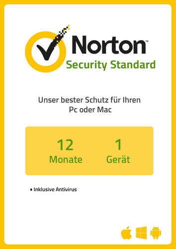 Verpackung von NortonLifeLock Norton Security Standard 3.0 (1 Gerät / 1 Jahr) [MULTIPLATFORM]