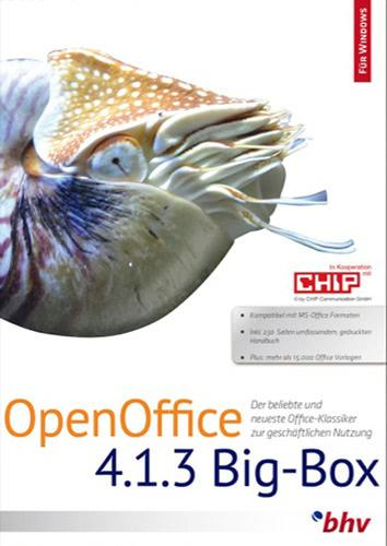 Verpackung von OpenOffice 4.1.3 BigBox [PC-Software]