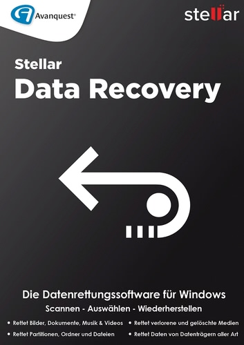 Verpackung von Stellar Windows Data Recovery 8 Standard [PC-Software]
