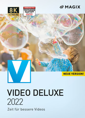 Verpackung von MAGIX Video deluxe 2022 [PC-Software]