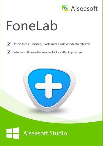 Verpackung von FoneLab - iPhone Data Recovery für PC [PC-Software]