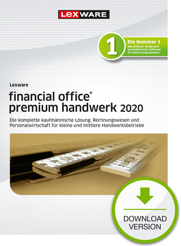 Lexware financial office 2020 premium handwerk – Jahresversion (365-Tage) (Download), PC