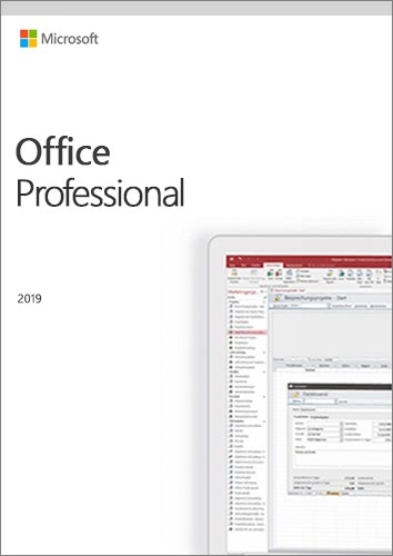 Verpackung von Microsoft Office Professional 2019 [PC-Software]