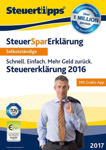 Verpackung von SteuerSparErklärung 2017 (für Steuerjahr 2016) für Selbstständige (PC) [PC-Software]