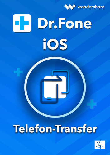 Verpackung von Wondershare Dr. Fone Telefon-Transfer (iOS) Mac - 5 Geräte 1 Jahr 5 Geräte 1 Jahr Laufzeit [Mac-Software]