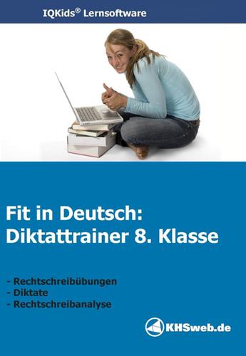 Verpackung von Fit in Deutsch - Diktattrainer - Klasse 8 [PC-Software]