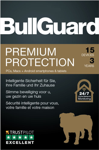 Verpackung von BullGuard Premium Protection 15 Geräte 36 Monate [MULTIPLATFORM]