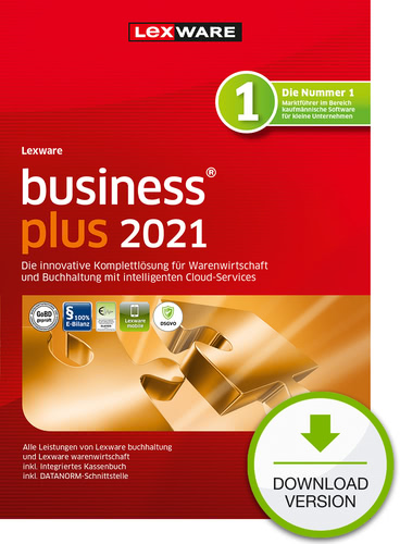 Verpackung von Lexware business plus 2021 - Jahresversion (365 Tage) [PC-Software]