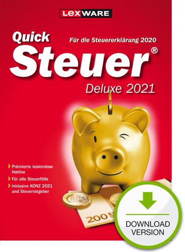 QuickSteuer 2021 Deluxe (für Steuerjahr 2020) (Download), PC
