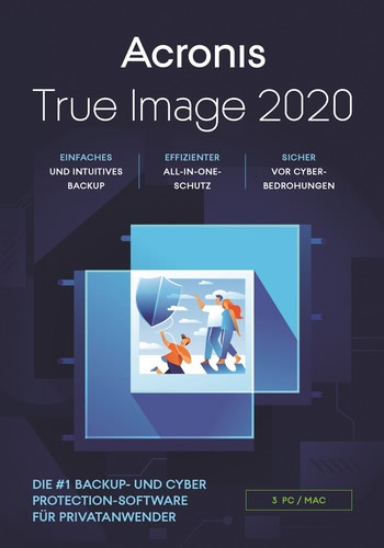 Verpackung von Acronis True Image Advanced 3 Geräte (Jahresversion) [MULTIPLATFORM]
