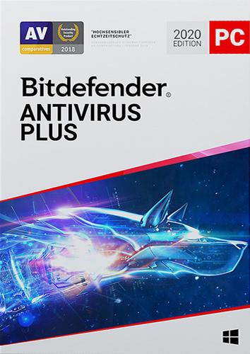 Verpackung von Bitdefender Antivirus Plus -  3 Geräte / 12 Monate [PC-Software]