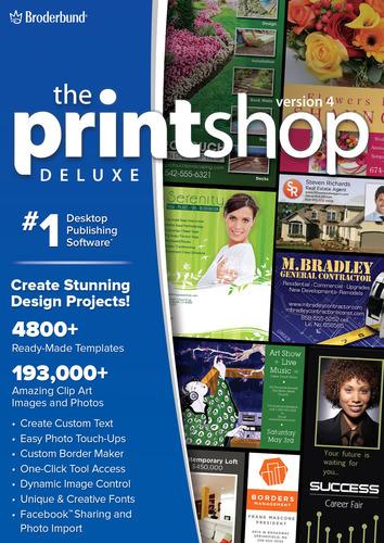 Verpackung von Printshop 4 Deluxe [PC-Software]