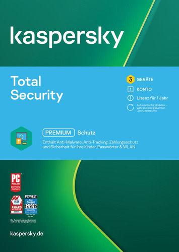 Verpackung von Kaspersky Total Security 2021 - 3 Geräte / 1 Jahr [MULTIPLATFORM]