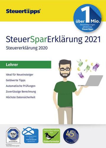 Verpackung von SteuerSparErklärung Lehrer 2021 (für Steuerjahr 2020) [PC-Software]
