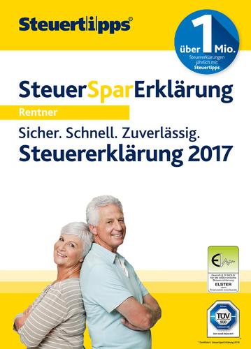 Verpackung von Steuer-Spar-Erklärung Rentner & Pensionäre 2018 (für Steuerjahr 2017) [PC-Software]