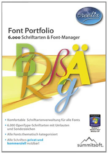 Verpackung von Creetix Font Portfolio [PC-Software]