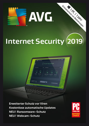 Verpackung von AVG Internet Security 2019 [PC-Software]