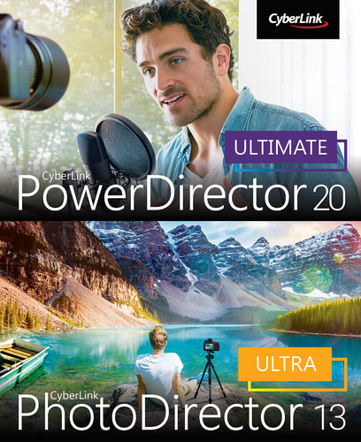 Verpackung von CyberLink PowerDirector 20 Ultimate & PhotoDirector 13 Ultra Duo [PC-Software]