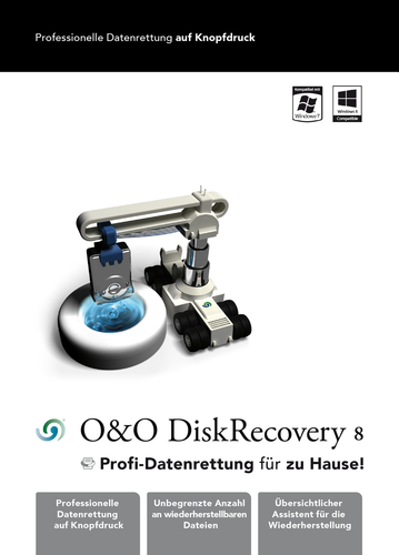 Verpackung von DiskRecovery 8 Professional Edition 1 PC [PC-Software]