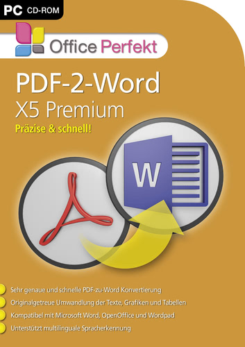 Verpackung von PDF-2-Word X5 Premium [PC-Software]