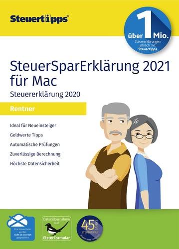 Verpackung von SteuerSparErklärung 2021 Rentner (für Steuerjahr 2020) [Mac-Software]