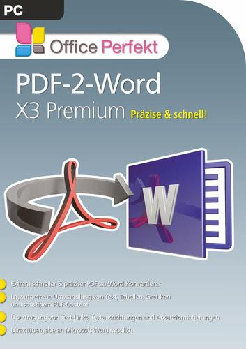 Verpackung von PDF-2-Word X3 Premium [PC-Software]