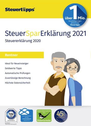 Verpackung von SteuerSparErklärung Rentner 2021 (für Steuerjahr 2020) [PC-Software]
