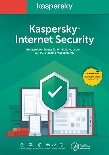 Verpackung von Kaspersky Internet Security 2020 (5 Geräte / 24 Monate) [MULTIPLATFORM]