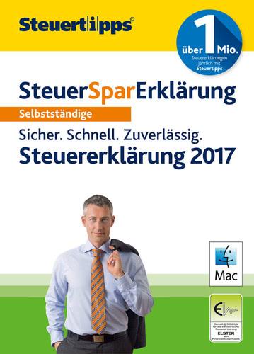 Verpackung von SteuerSparErklärung 2018 (für Steuerjahr 2017) Selbstständige MAC (Mac) [Mac-Software]