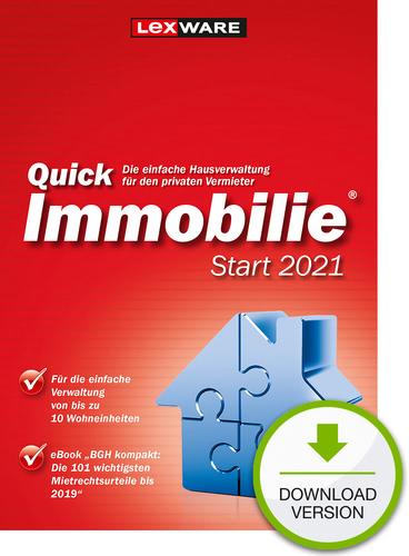 Verpackung von Lexware QuickImmobilie Start 2021 [PC-Software]
