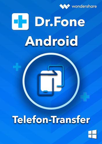 Verpackung von Wondershare Dr. Fone Telefon-Transfer (Android) PC - 5 Geräte 1 Jahr [PC-Software]