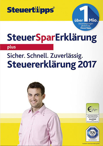 Verpackung von SteuerSparErklärung Plus 2018 (für Steuerjahr 2017) [PC-Software]
