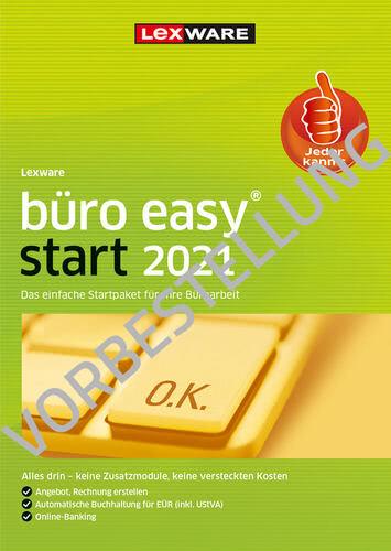 Verpackung von Lexware büro easy start 2022 - Jahresversion (365 Tage) - Vorbestellung [PC-Software]