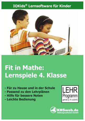 Verpackung von Fit in Mathe: Lernspiele 4. Klasse [PC-Software]