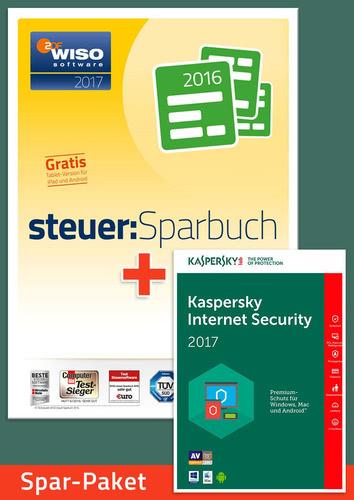 Sparpaket: WISO steuer:Sparbuch 2017 (für 2016) + Kaspersky Internet Security 2017 (1 Jahr) (Download), PC
