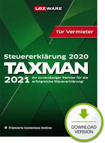Taxman 2021 für Vermieter (für Steuerjahr 2020) (Download), PC