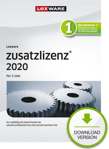 Verpackung von Lexware zusatzlizenz 2020 für 5 User - Jahresversion (365 Tage) [PC-Software]