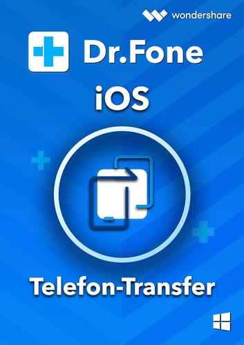 Verpackung von Wondershare Dr. Fone Telefon-Transfer (iOS) PC - 5 Geräte 1 Jahr 5 Geräte 1 Jahr Laufzeit [PC-Software]