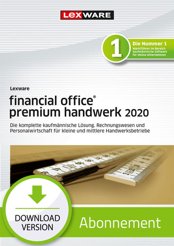 Verpackung von Lexware financial office 2020 premium handwerk - Abo-Version [PC-Software]