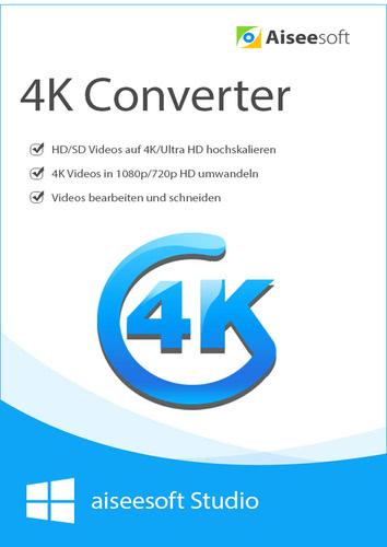 Verpackung von Aiseesoft 4K Converter - Lebenslange Lizenz [PC-Software]