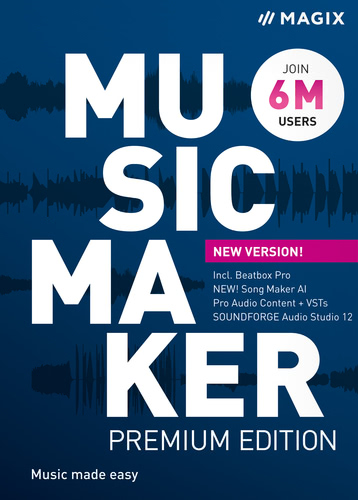 Verpackung von MAGIX Music Maker Premium (2022) [PC-Software]
