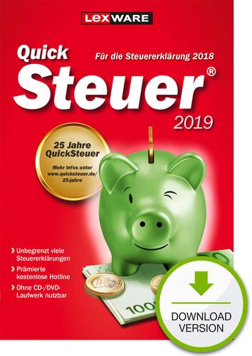 Verpackung von QuickSteuer 2019 (für Steuerjahr 2018) [PC-Software]