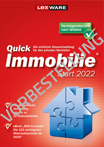 Lexware QuickImmobilie 2022 Start (Download), PC