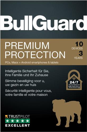 Verpackung von BullGuard Premium Protection 10 Geräte 36 Monate [MULTIPLATFORM]